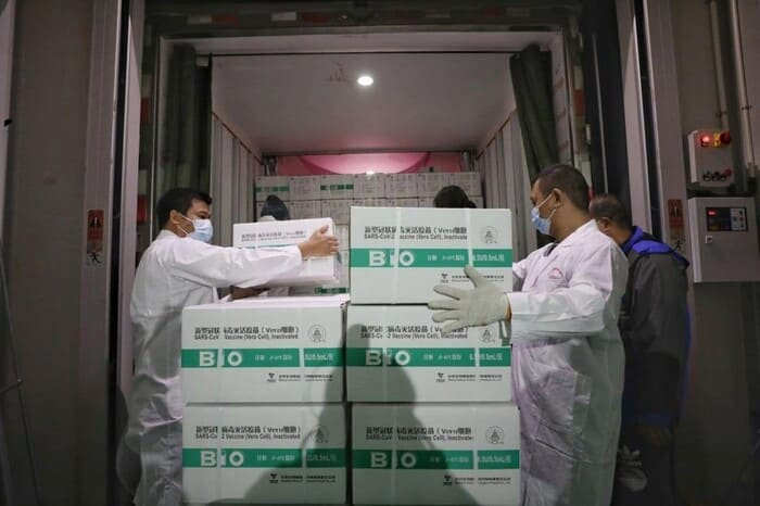 ورود 1.1میلیون واکسن چینی