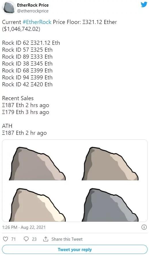 فروش تصویر NFT سنگهای اتریوم