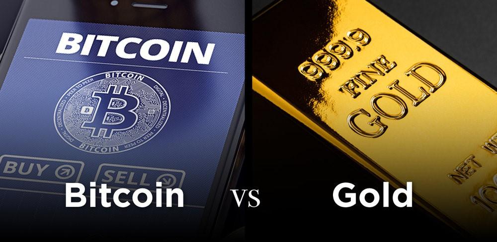 بیت کوین در مقایسه با طلا