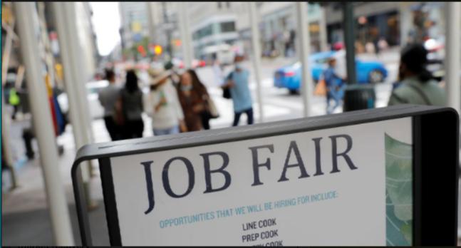 کاهش ادعای بیکاری در ایالات متحده