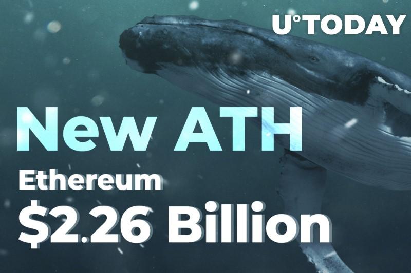 جابجایی 2.26 میلیارد دلار اتر توسط نهنگ ها